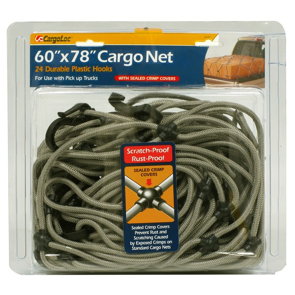 Allied International 84062 60-inch X 78-inch Green Cargo Net W/Sealed Crimp Covers