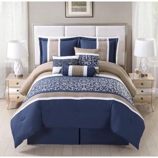 Alondra 7-piece Damask Comforter set