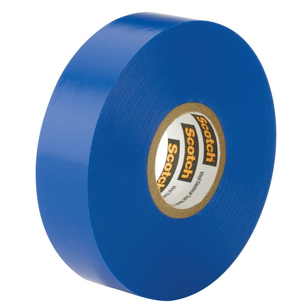 "3M 10836-DL-10 3/4"" X 66' Blue Scotch 35 Professional Electrical Tape 18357234"