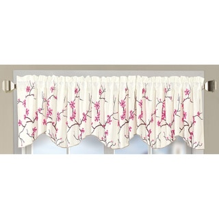 Serenta Embroidery Cherry Blossom Valance