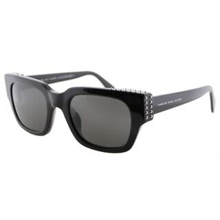 Marc by Marc Jacobs MMJ 485/Studs 807 Black Plastic Square Cat-Eye Grey Lens Sunglasses