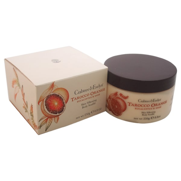 Crabtree & Evelyn Tarocco Orange Eucalyptus & Sage Skin Silkening 8.8-ounce Body Souffle