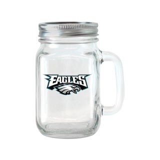 Philadelphia Eagles 16-ounce Glass Mason Jar Set