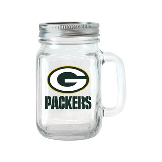 Green Bay Packers 16-ounce Glass Mason Jar Set