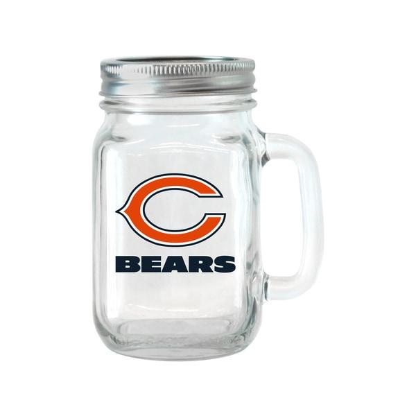 Chicago Bears 16-ounce Glass Mason Jar Set 18357502