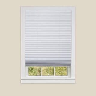 1-2-3 Vinyl Room Darkening White Pleated Window Shade - 6 Pack