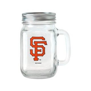 San Francisco Giants 16-ounce Glass Mason Jar Set