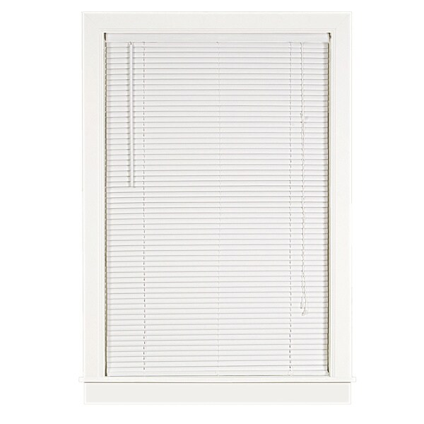 Deluxe Sundown White 1-inch Room-darkening Mini Blind