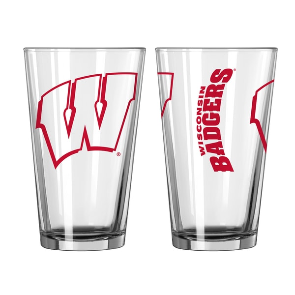 Wisconsin Badgers Game Day Pint Glass 2-Pack 18357705