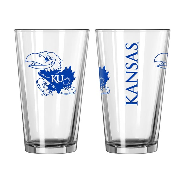 Kansas Jayhawks Game Day Pint Glass 2-Pack 18357717