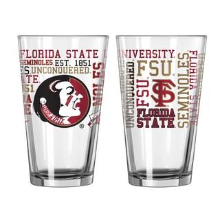 Florida State Seminoles 16-Ounce Spirit Pint Glass Set