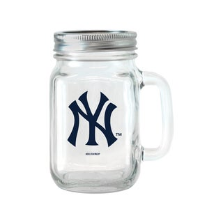 New York Yankees 16-ounce Glass Mason Jar Set