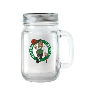Boston Celtics NBA 16-ounce Glass Mason Jar Set