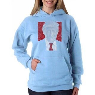 LA Pop Art Women's Trump Hooded Sweatshirt