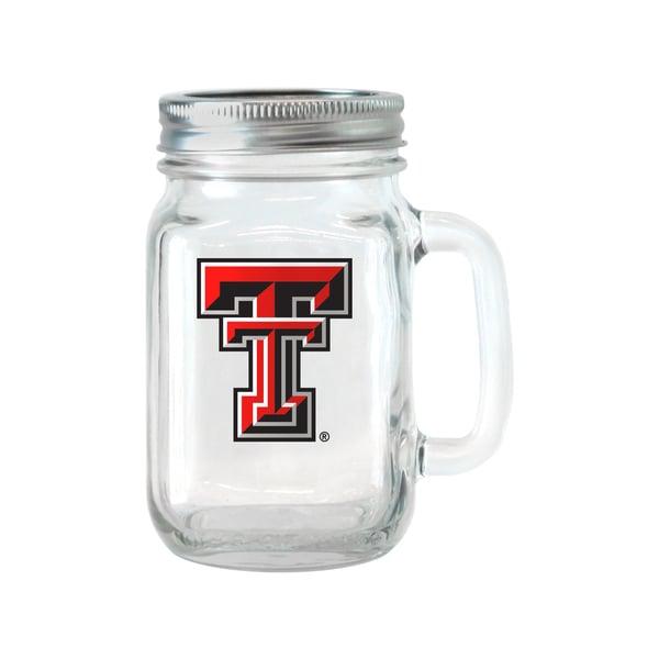 Texas Tech Red Raiders 16-ounce Glass Mason Jar Set 18357916