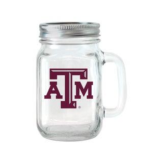 Texas A and M Aggies 16-ounce Glass Mason Jar Set