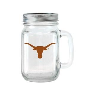 Texas Longhorns 16-ounce Glass Mason Jar Set