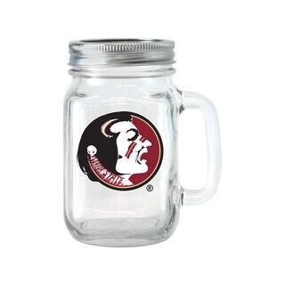 Florida State Seminoles 16-ounce Glass Mason Jar Set