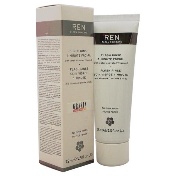 REN 2.5-ounce Flash Rinse 1 Minute Facial