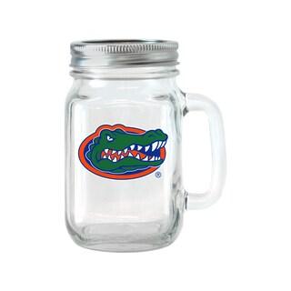 Florida Gators 16-ounce Glass Mason Jar Set