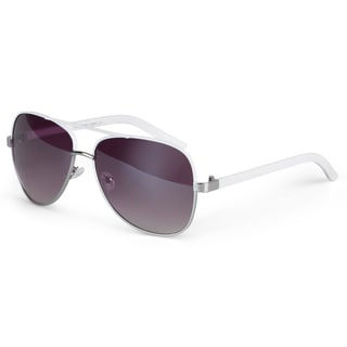 Journee Collection Women's Fashion Two-tone Aviator Sunglasses