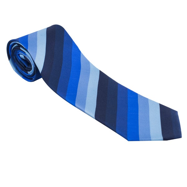 The Journey Continues - Spitfire Blue Stripe Italian Silk Tie