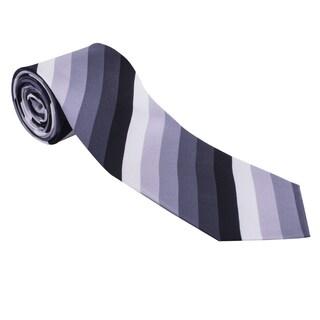 The Journey Continues Spitfire Grey/ Black Stripe Italian Silk Tie