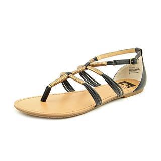 BC Footwear Women's 'Fast Lane' Faux Leather Sandals