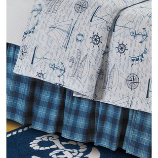 Fair Winds Plaid Cotton Bed Skirt