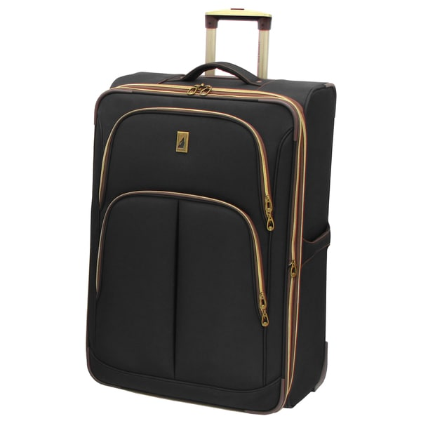 London Fog Coventry Black 29-inch Expandable Rolling Upright Suitcase