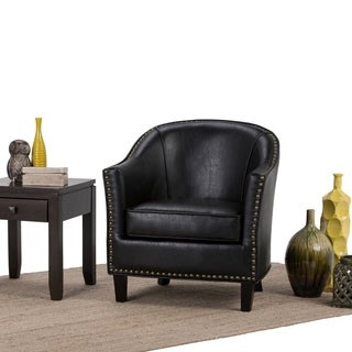 Ansley charcoal grey tub chair 14605954 for Bella chaise dark brown