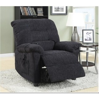 Leeman Power Lift Grey Chenille Recliner