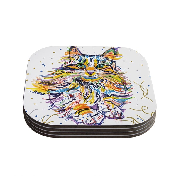 Kess InHouse Rebecca Fischer 'Leo' Coasters (Set of 4)