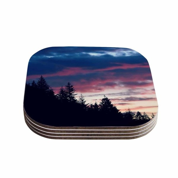 Kess InHouse Robin Dickinson 'Go On Adventures' Skyline Coasters (Set of 4)