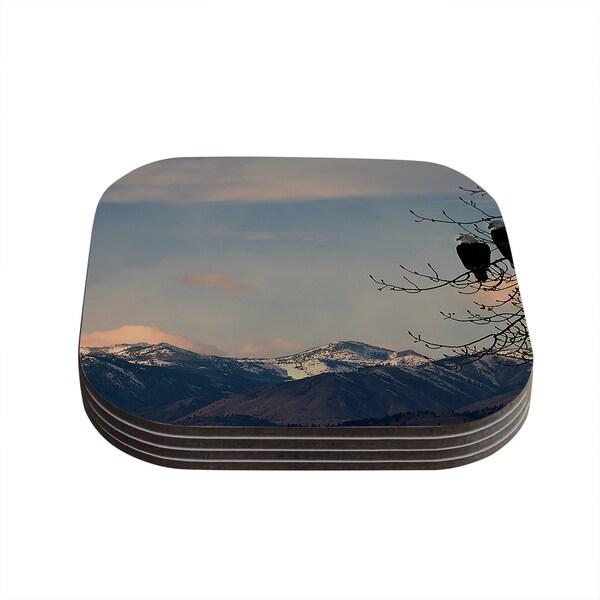Kess InHouse Robin Dickinson 'Majesty' Nature Landscape Coasters (Set of 4) 18359169