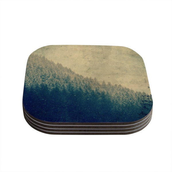 Kess InHouse Robin Dickinson 'Any Road Will Do' Mountain Tree Coasters (Set of 4)