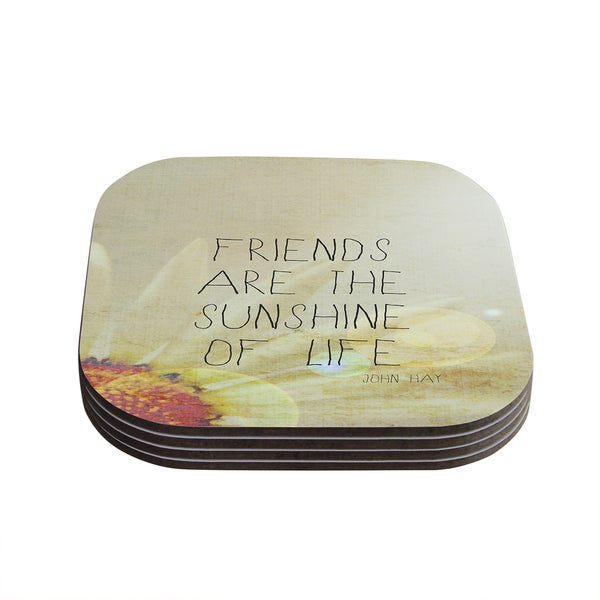 Kess InHouse Rachel Burbee 'Friends & Sunshine' Coasters (Set of 4)