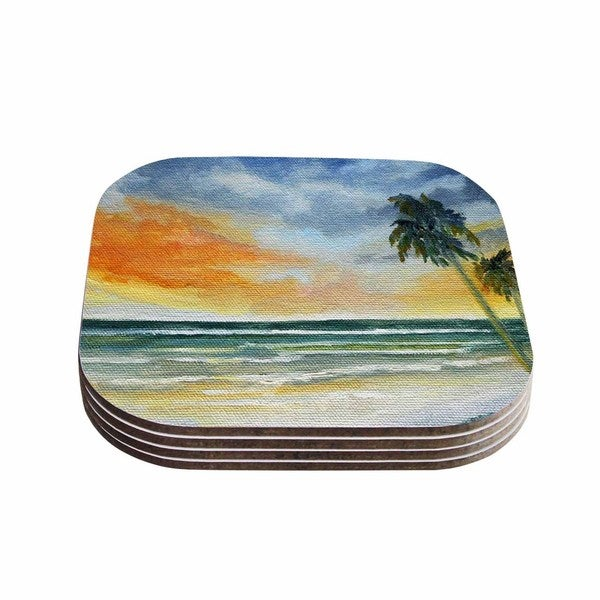 Kess InHouse Rosie Brown 'End of Day' Beach Coasters (Set of 4) 18359361