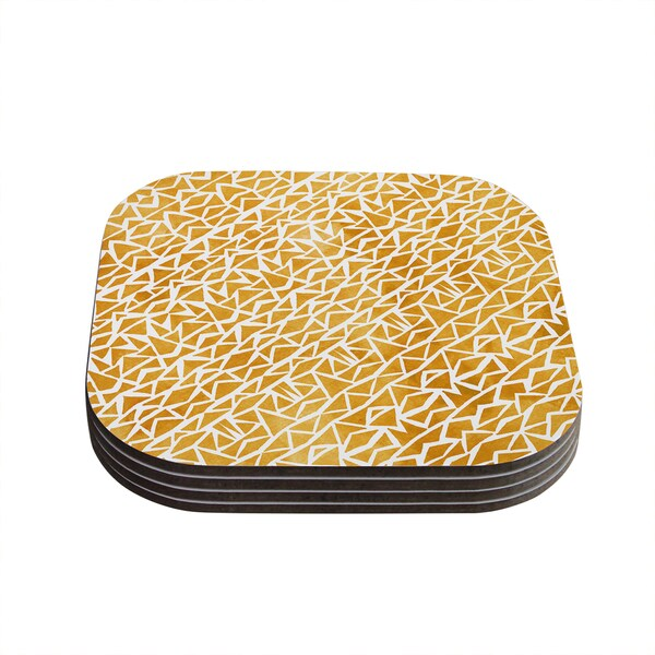 Kess InHouse Pom Graphic Design 'Tribal Origin' Coasters (Set of 4)