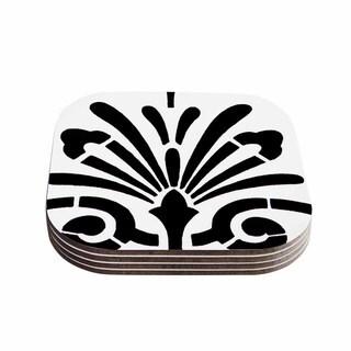 Philip Brown 'Sparkles' Black Digital Coasters (Set of 4)