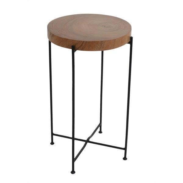 Kamea Side Table With Iron leg-medium