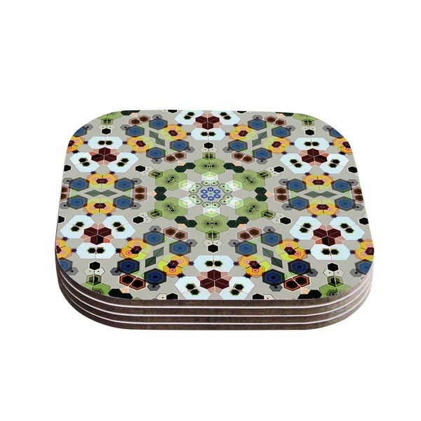 Kess InHouse Angelo Cerantola 'Fruity Fun' Green Modern Coasters (Set of 4)