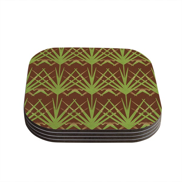 Kess InHouse Alison Coxon 'Mint Choc' Coasters (Set of 4)