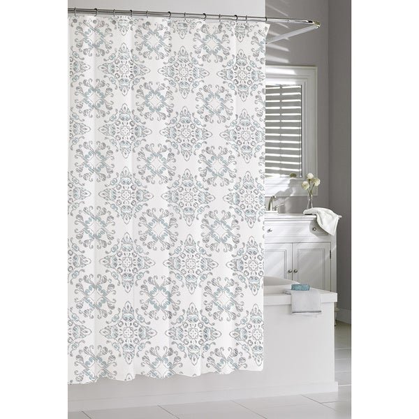 Moroccan Blue Shower Curtain
