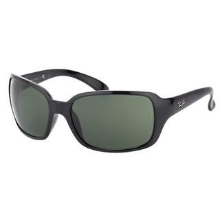 Ray-Ban RB 4068 601 Black Plastic Fashion Green Lens Sunglasses