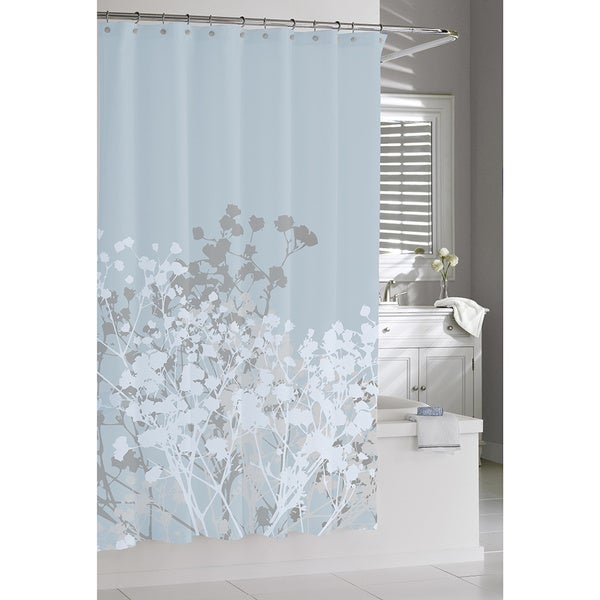 Floral Blue Shower Curtain 18710193 Shopping Great Deals On Shower Curtains