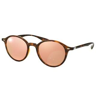 Ray-Ban RB 4237 894/Z2 Liteforce Tortoise Plastic Round Copper Mirror Flash Lens Sunglasses