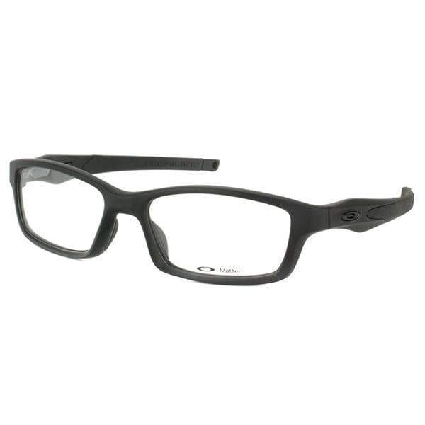 Oakley Crosslink OX8027-0553 Satin Black Rectangle Sport 53mm Eyeglasses