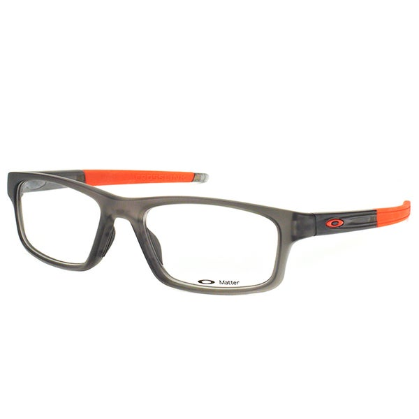 Oakley Crosslink Pitch OX8037-0654 Satin Grey Smoke Rectangle Sport 54mm Eyeglasses