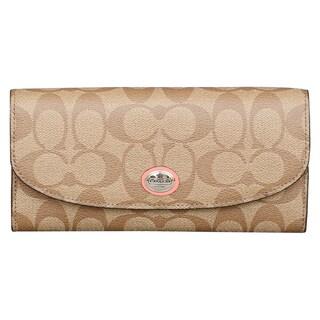 Coach Peyton Multistripe Slim Envelope Wallet with Pouch